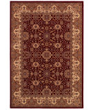 RugStudio presents Couristan Himalaya Kailash Per Red/Ant Crem Woven Area Rug