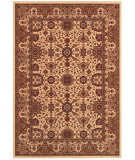 RugStudio presents Couristan Himalaya Kailash Ant Crem/Per Red Woven Area Rug