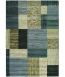 RugStudio presents Couristan Everest Geometrics Tan/Teal Woven Area Rug
