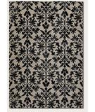 RugStudio presents Couristan Everest Retro Damask Grey-Black 6316-6333 Machine Woven, Better Quality Area Rug