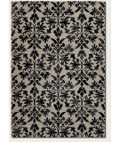 RugStudio presents Couristan Everest Retro Damask Grey/Black Machine Woven, Good Quality Area Rug