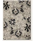 RugStudio presents Couristan Everest Wild Daisy Grey-Black 6351-5313 Machine Woven, Better Quality Area Rug