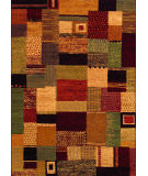 RugStudio presents Couristan Easton Maribel Mustard/Multi Woven Area Rug