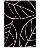 RugStudio presents Couristan Moonwalk Laurel Leaf Black/White Machine Woven, Good Quality Area Rug