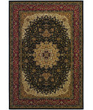RugStudio presents Couristan Izmir Royal Kashan Black Machine Woven, Good Quality Area Rug