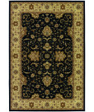 RugStudio presents Couristan Izmir Floral Bijar Black Machine Woven, Good Quality Area Rug