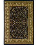 RugStudio presents Couristan Izmir Floral Mashhad Black Machine Woven, Good Quality Area Rug
