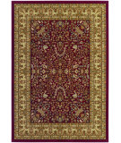 RugStudio presents Couristan Izmir Floral Mashhad Red Machine Woven, Good Quality Area Rug