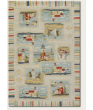 RugStudio presents Couristan Outdoor Escape Cape Hatteras Sand/Multi Machine Woven, Good Quality Area Rug