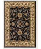 RugStudio presents Couristan Izmir Floral Isfahan Black Machine Woven, Good Quality Area Rug