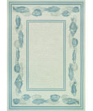 RugStudio presents Couristan Dolce Corvina Ivory/Light Blue Flat-Woven Area Rug