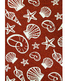 RugStudio presents Couristan Outdoor Escape Cardita Shells Terracotta/Ivory Hand-Hooked Area Rug