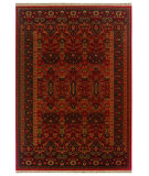 RugStudio presents Couristan Kashimar Kerman Vase Brick Red Machine Woven, Good Quality Area Rug