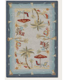 RugStudio presents Couristan Outdoor Escape Pacific Heights Ocean Hand-Hooked Area Rug