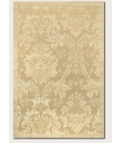 RugStudio presents Couristan Impressions Antique Damask Gold/Ivory Hand-Knotted, Good Quality Area Rug