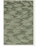 RugStudio presents Couristan Impressions Sage Leaf Sage 8089-0899 Hand-Knotted, Best Quality Area Rug