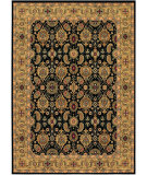 RugStudio presents Couristan Royal Kashimar A/O Vase Black/Deep Maple Machine Woven, Best Quality Area Rug