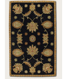 RugStudio presents Couristan Dynasty All Over Perisn Vine Black 9103-0103 Hand-Tufted, Better Quality Area Rug