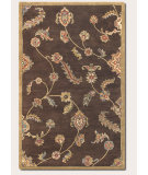 RugStudio presents Couristan Dynasty Persian Garland Brown 9105-0105 Hand-Tufted, Better Quality Area Rug