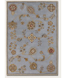 RugStudio presents Couristan Dynasty Beijing Garden Steel Blue Hand-Tufted, Better Quality Area Rug