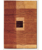 RugStudio presents Couristan Pokhara Grotto Burnish Earthton Hand-Knotted, Good Quality Area Rug