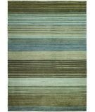 RugStudio presents Couristan Pokhara Figaro Brown/Blue Hand-Knotted, Better Quality Area Rug