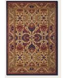RugStudio presents Couristan Anatolia Royal Plume Navy-Port Wine 2715-0705 Machine Woven, Good Quality Area Rug