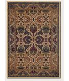 RugStudio presents Couristan Anatolia Royal Plume Cream-Plum 2715-0706 Machine Woven, Good Quality Area Rug