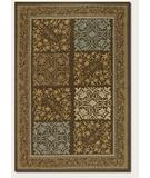 RugStudio presents Couristan Covington Floral Paisley Neutrals-Blue 2196-1096 Hand-Hooked Area Rug