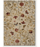 RugStudio presents Couristan Eden Monarch Garden Ivory/Peony Hand-Knotted, Best Quality Area Rug