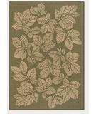 RugStudio presents Couristan Five Seasons Rio Mar Green-Cream 3079-0024 Machine Woven, Good Quality Area Rug