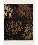 RugStudio presents Couristan Pokhara Golden Palms Brown-Amber 9928-0233 Hand-Knotted, Better Quality Area Rug