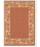RugStudio presents Couristan Recife Island Retreat Terra Cotta-Natural 1222-1122 Machine Woven, Good Quality Area Rug