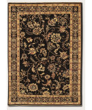 RugStudio presents Couristan Chobi Plumage Midnight/Creme Hand-Knotted, Good Quality Area Rug