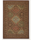 RugStudio presents Couristan Pera Hereke Multi/Chocolate Machine Woven, Good Quality Area Rug