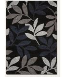 RugStudio presents Couristan Moonwalk Lunar Garden Black 3242-0006 Area Rug