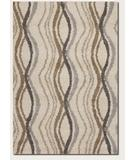 RugStudio presents Couristan Moonwalk Pulsation Cream 6992-0005 Area Rug