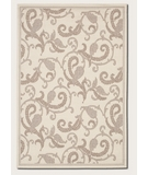 RugStudio presents Couristan Recife Paisley Scroll Ivory-Natural 1180-7184 Machine Woven, Good Quality Area Rug