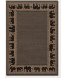 RugStudio presents Couristan Recife Elephant Cocoa/Black Machine Woven, Good Quality Area Rug