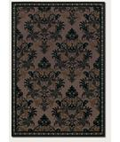 RugStudio presents Couristan Sunscape Chandelier Chocolate-Black 4652-5521 Machine Woven, Good Quality Area Rug