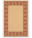 RugStudio presents Couristan Recife Tropics Natural-Terra Cotta 1177-1112 Machine Woven, Good Quality Area Rug