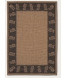 RugStudio presents Couristan Recife Tropics Cocoa-Black 1177-2500 Machine Woven, Good Quality Area Rug