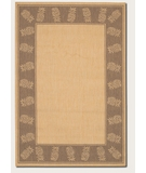 RugStudio presents Couristan Recife Tropics Natural-Cocoa 1177-3000 Machine Woven, Good Quality Area Rug