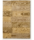 RugStudio presents Couristan Pokhara Wood Grain Gold-Beige 9931-1100 Hand-Knotted, Better Quality Area Rug