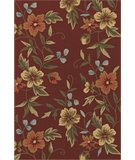 RugStudio presents Dalyn Terrace TE-11 Burgundy Hand-Hooked Area Rug
