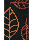 RugStudio presents Rugstudio Riley DL13 Black-Rich Red-Coral Machine Woven, Best Quality Area Rug