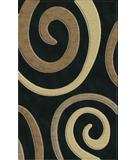 RugStudio presents Rugstudio Riley DL17 Black-Stone-Putty-Silver Machine Woven, Best Quality Area Rug