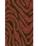 RugStudio presents Rugstudio Riley DL19 Mocha-Burgundy Machine Woven, Best Quality Area Rug
