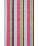 RugStudio presents Dash and Albert Clover 54258 Stripe Flat-Woven Area Rug