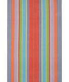 RugStudio presents Dash and Albert Garden 54259 Stripe Flat-Woven Area Rug